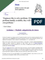 Arduino + Matlab_ adquisición de datos