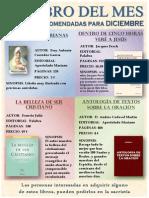 DICIEMBRE 2013 Cartel Lecturas Recomendadas - A3