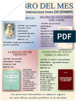 DICIEMBRE 2013 Cartel Lecturas Recomendadas