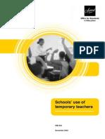 Schools Use of Temporary Teachers (PDF Format)
