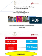 EE and Potential Savings in Chinese Hospitals