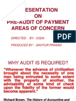 Presentation on Pre-Audit of Payment