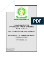 Communiqué of the 15th Ordinary Summit of The EAC Heads of State