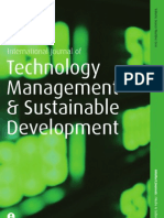 International Journal of Technology Management and Sustainable Development