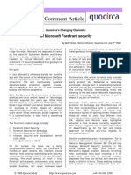 Of Microsoft Forefront security