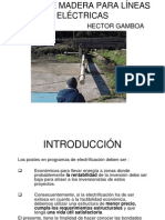Postes Madera Lineas Electricas