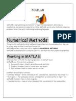 MATLAB MATLAB lab manual numerical methods and matlab