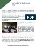 School of Discipleship & Missionary Making Training ;;