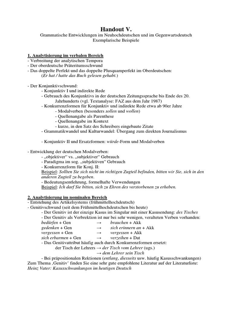 Entwicklungstendenzen Ii Handouts