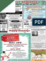 Weekly Reminder December 2, 2013