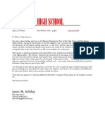 High School Letter of Recommendation