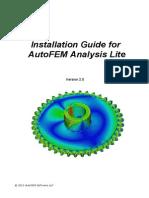 Installation Guide for AutoFEM Lite