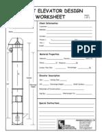 Bucket Elevator Design Worksheet
