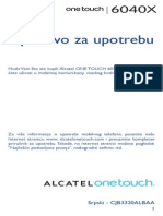 Alcatel Onetouch 6040 Quick Guide - Serbian