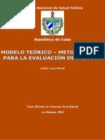 MODELO TEÓRICO – METODOLÓGICO isabel louro bernal ff sil
