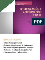 INTERPOLACIÓN Y APROXIMACIÓN LINEAL trabajo viernes 04 de octubre