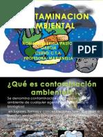 Contaminacion Ambiental Diapositiva Primero A