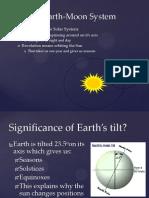the sun earth moon system