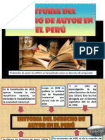 HISTORIA DEL DERECHO DE AUTOR EN EL PERÚ