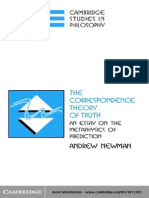 Andrew Newman - The Correspondence Theory of Truth