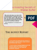 Discovered the Nine Investing Secrets of Warren Buffet