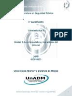 Unidad 1. La criminalística y los actores del proceso