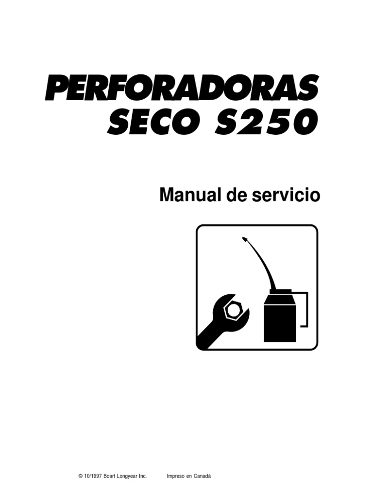 S250 Manual de Perforadora Neumatica