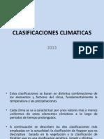 CLASIFICACIONES CLIMATICAS