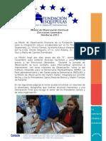 Informe de la Misión de Observación FUNDACION ESQUIPULAS Elecciones Generales Honduras 2013