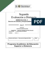 2° EVLUACION A DISTANCIA DERECHO CIVIL V 2013-II. Elián