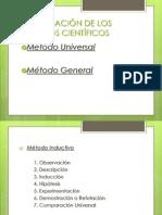 CLASIFICACIÓN DE LOS MÉTODOS CIENTÍFICOS