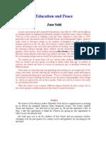 Education & Peace - Jane Sahi