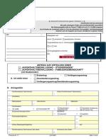 Aufenthaltsbewilligung Studierender Formular