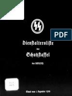 Reichsführer SS - Dienstaltersliste der Schutzstaffel der NSDAP 1936 (SS-Obergruppenführer - SS-Obersturmführer - SS-Untersturmführer)