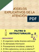 MODELOS EXPLICATIVOS DE LA ATENCIÓN