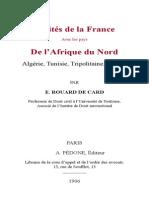 Rouard de Card E - Traites de La France Avec l Afrique Du Nord