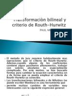 Teoria Bilineal y Routh Huerwitz