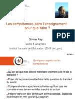 Présentation d'O. Rey à l'occasion du GDD Compétences