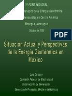 Desarrollo y Perspectivas de La Industria Geotermica en Mexico
