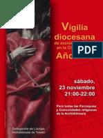 Vigilia diocesana de acción de gracias en la Clausura del Año de la Fe