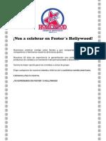 Cupon FostersHollywood