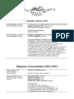 FI.pergola Stagione Concertistica 2012 13