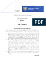 Joint Statement EP Kosovo