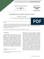 Alvarado-Power System Control With Price Signals