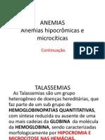 2- HEMATOLOGIA  ANEMIAS.ppt  CONTINUAÇAO 2   15 maio 2013 atual