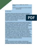 EL EJERCICIO PROFESIONAL EN LA CARRERA DEL TÉCNICO SUPERIOR UNIVERSITARIO