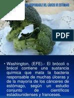 ADULTO MAYOR Brócoli mata bacteria responsable del cáncer de