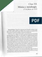 gilles deleuze - clase del 27 de febrero de 1979 - clase XX 'Música y metalurgia' en Derrames entre capitalismo y esquizofrenia ed. Cactus 2005