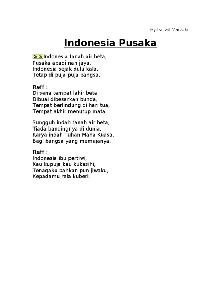 Lirik Lagu Indonesia Jaya Hari Hari