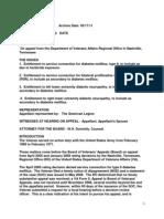 FORT MCCLELLAN VA S-C Decision Favorable to Ft McClellan Vet (Citation #1108696)